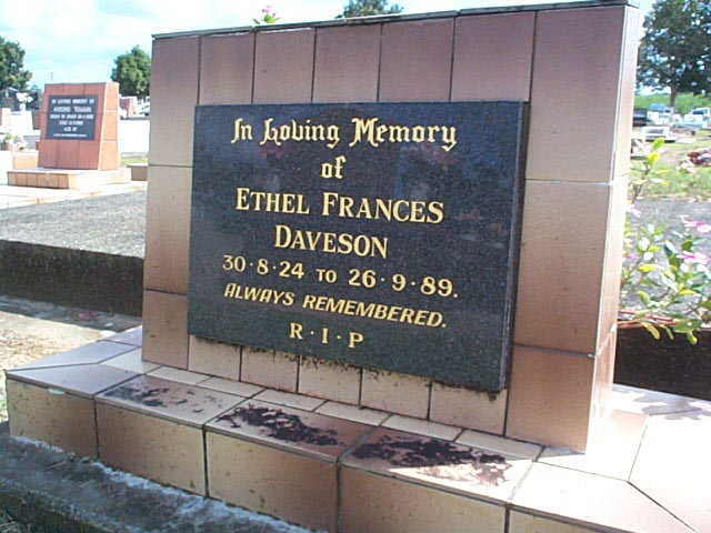 DAVESON  Ethel Frances