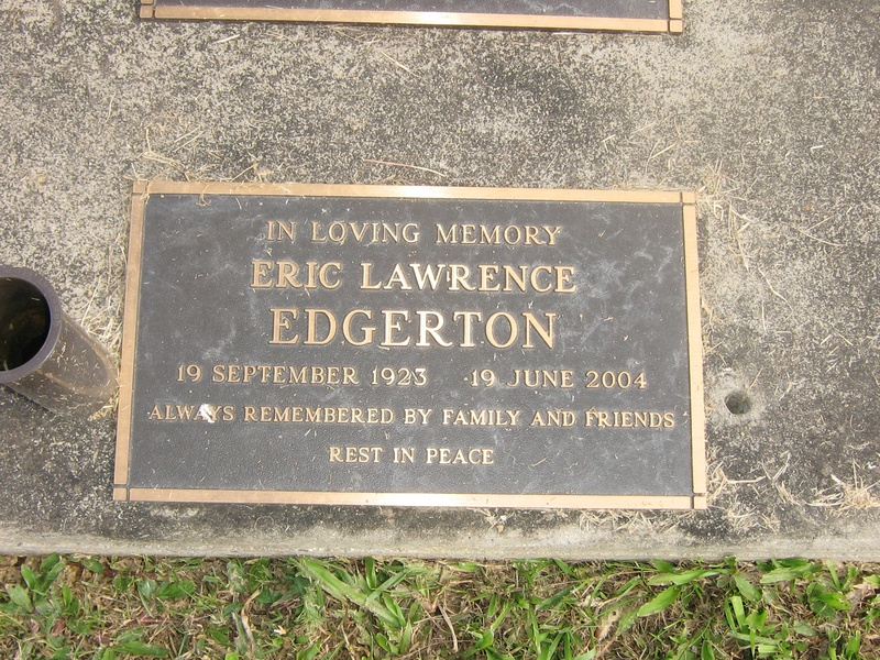 EDGERTON Eric Lawrence