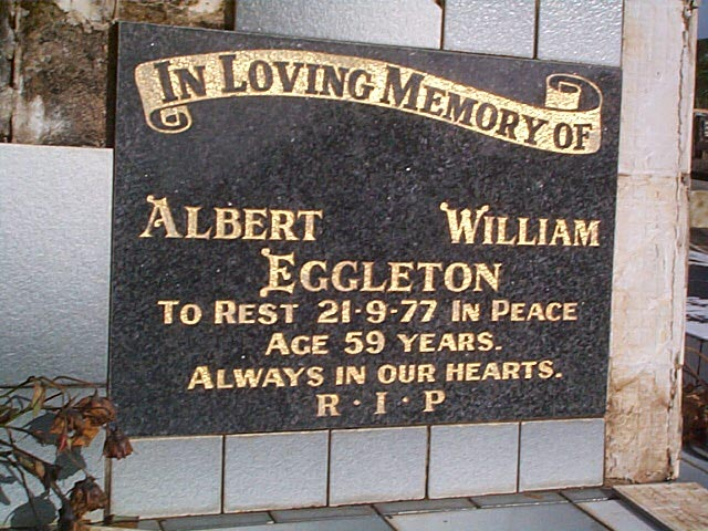 EGGLETON Albert William