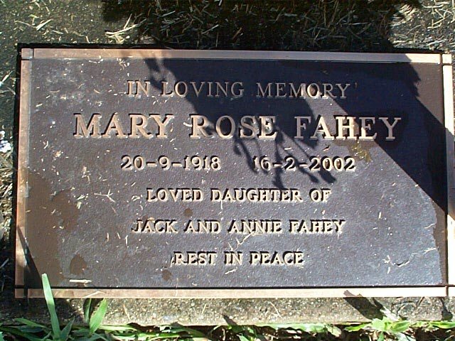 FAHEY Mary Rose