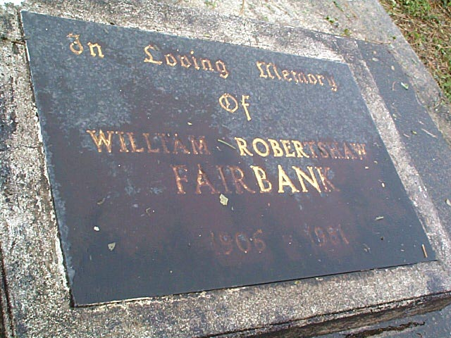 FAIRBANK William Robertshaw