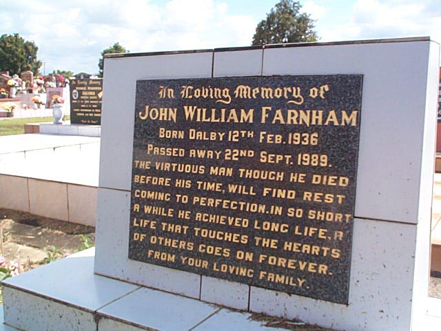 FARNHAM John William