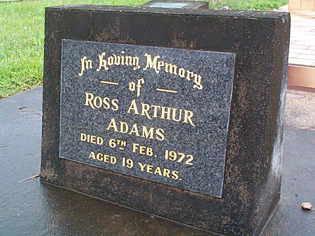 ADAMS  Ross Arthur