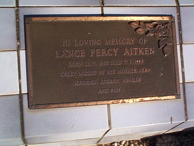 AITKIN  Lance Percy
